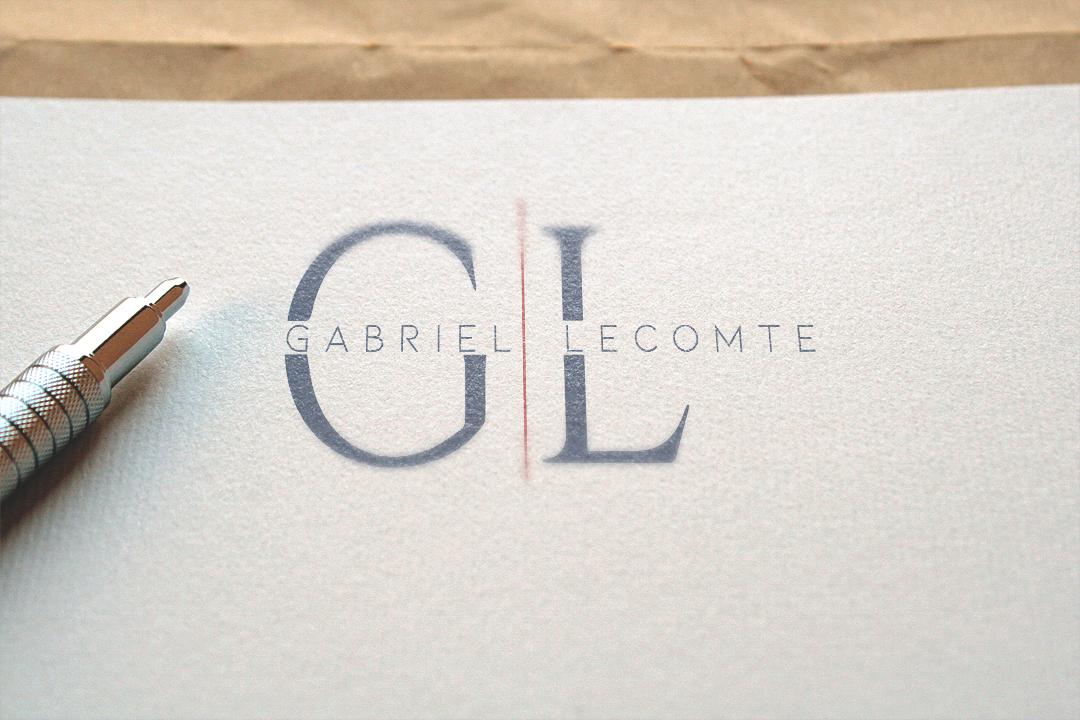 Création logo Gabriel Lecomte