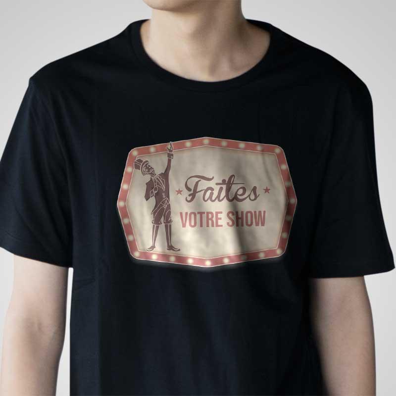Flocage t-shirt faites votre show