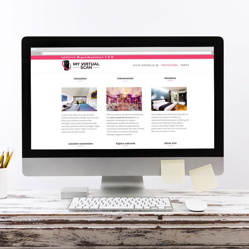 Création du site internet www.myvirtualscan.fr